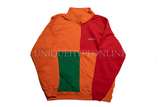 Supreme Color Blocked Half Zip Sweatshirt SS18 Dark Orange