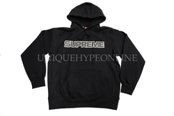 Supreme Perforated Leather Hooded Sweatshirt FW18 Black