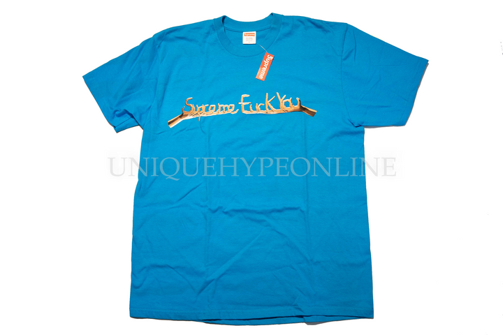 Supreme Fuck You T-Shirt Bright Blue