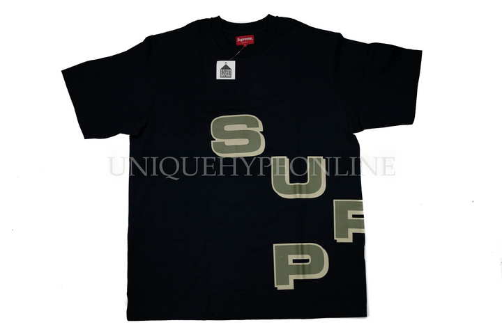 Supreme Stagger Tee FW18 Navy