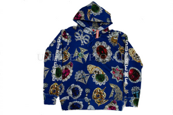 Supreme Jewels Hooded Sweatshirt FW18 Royal
