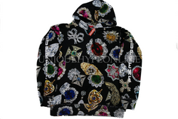Supreme Jewels Hooded Sweatshirt FW18 Black