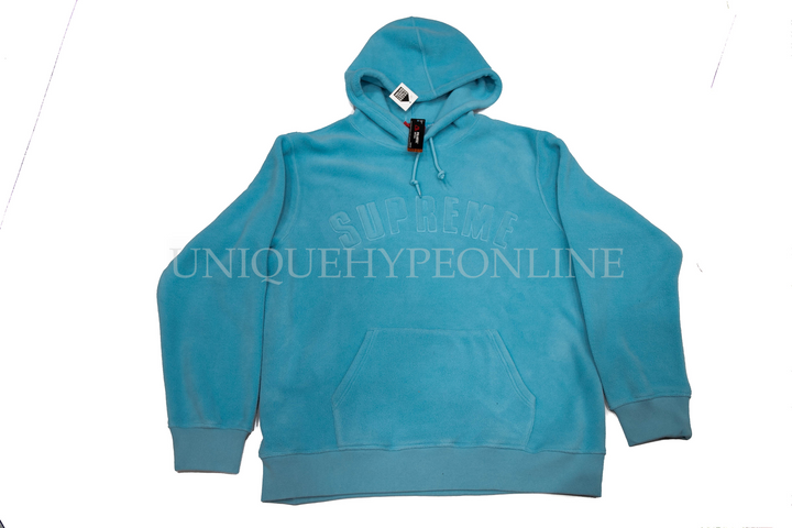 Supreme Polartec Hooded Sweatshirt Light Blue (FW18)