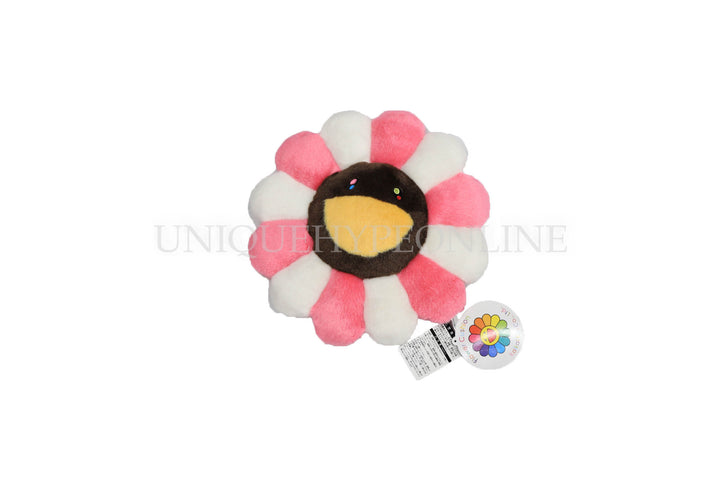 Murakami Pink/Ivory/Brown Flower Cushion