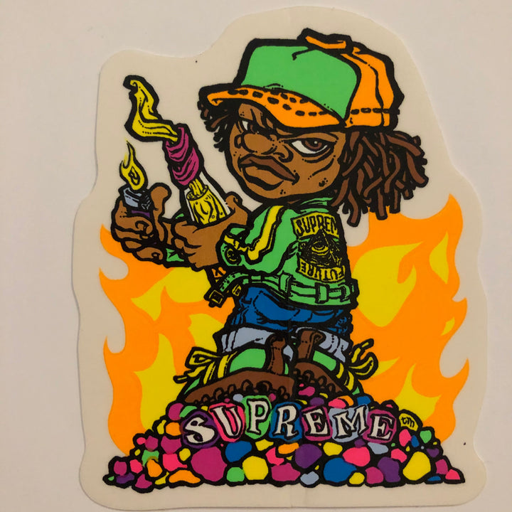 Supreme Molotov Kid Sticker
