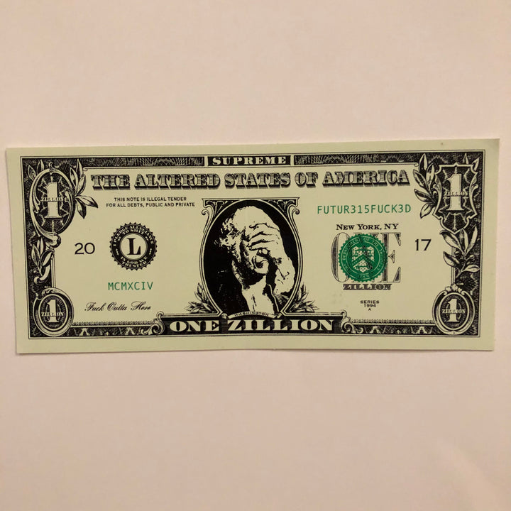 Supreme Dollar Sticker