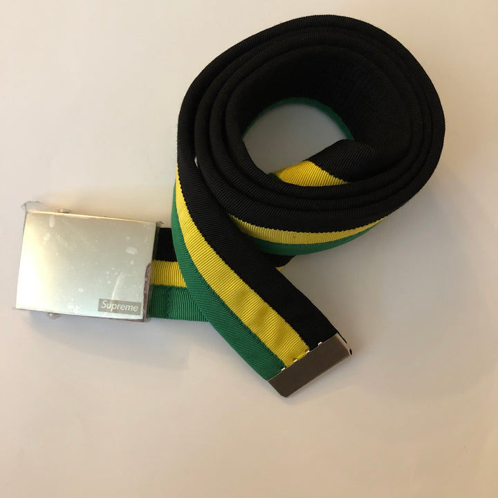 Supreme Belt Black/Yellow/Green 07