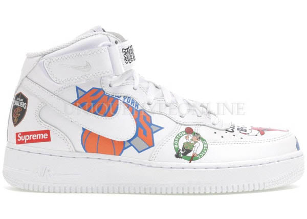 Supreme x Nike Air Force 1 NBA SS18