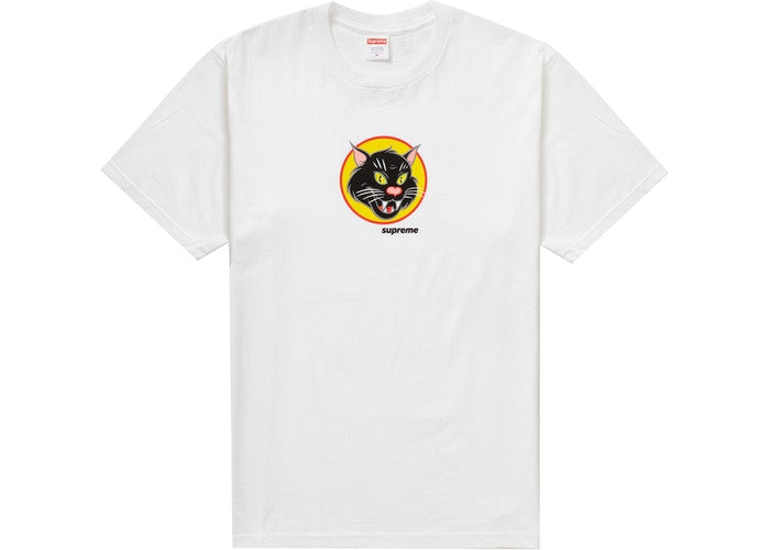 Supreme Black Cat Tee White SS20