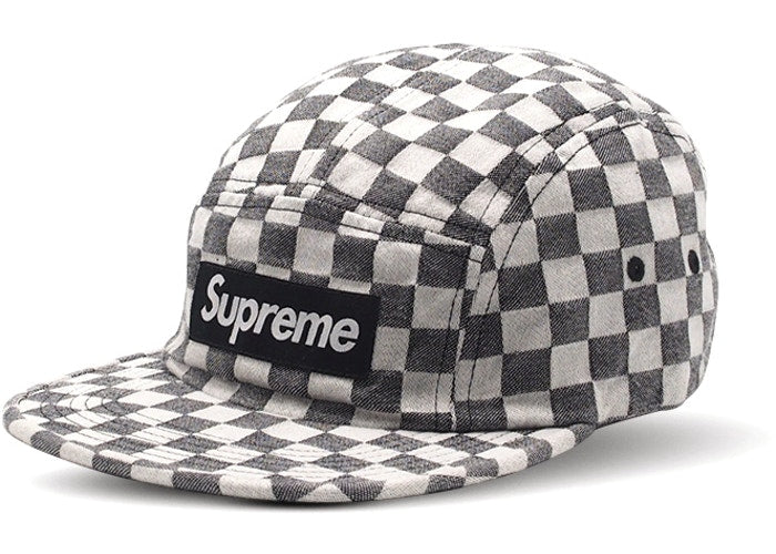 Supreme Checkerboard Camp Cap Black SS18