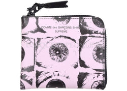Supreme x Comme des Garcons (CDG) SHIRT Large Eyes Coin Pouch Pink SS17