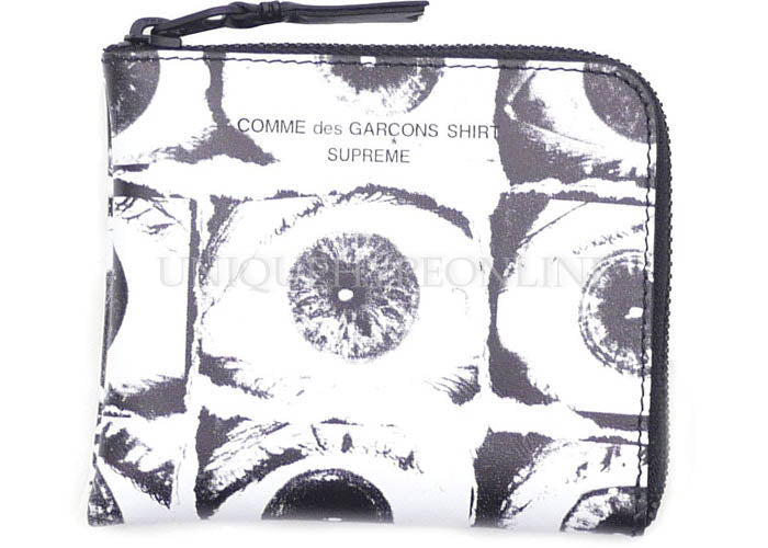 Supreme x Comme des Garcons (CDG) SHIRT Large Eyes Coin Pouch White SS17