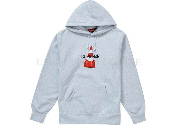 Supreme Cone Hooded Sweatshirt FW19 Ash Grey