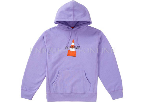 Supreme Cone Hooded Sweatshirt FW19 Light Violet