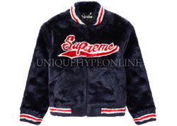 Supreme Faux Fur Varsity Jacket SS20