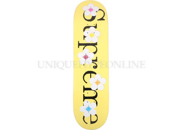 Supreme Flowers Deck Yellow SS17