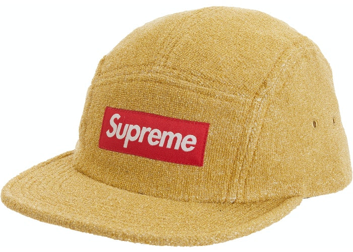 Supreme Glitter Terry Camp Cap Gold SS19