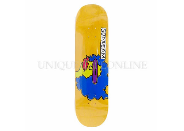 Supreme Gonz Ramm Skateboard Deck Yellow FW17