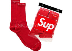 Supreme Hanes Socks (4 Pack) Red