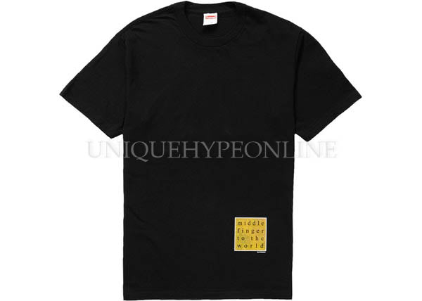 Supreme Middle Finger to the World Tee SS19