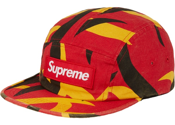 Supreme Military Camp Cap FW19 Red Tribal