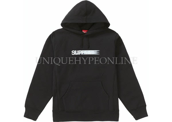 Supreme Motion Logo Hooded Sweatshirt Black SS20