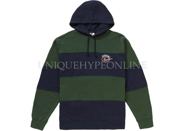 Supreme x Nike Stripe Hooded Sweatshirt SS19
