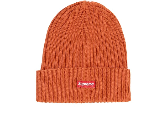 Supreme Overdyed Ribbed Beanie Orange SS19