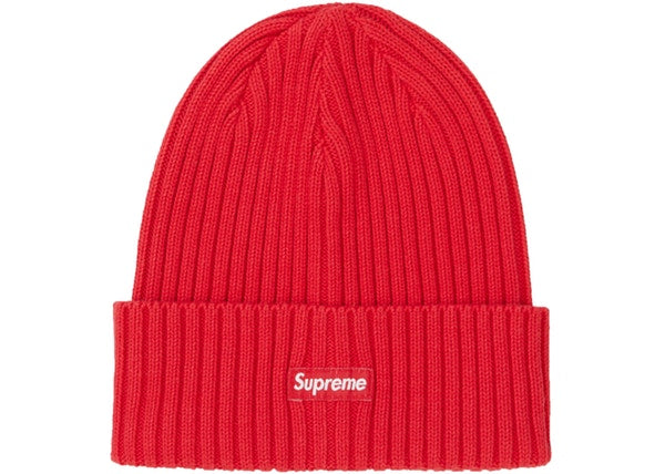 Supreme Overdyed Ribbed Beanie Red SS20