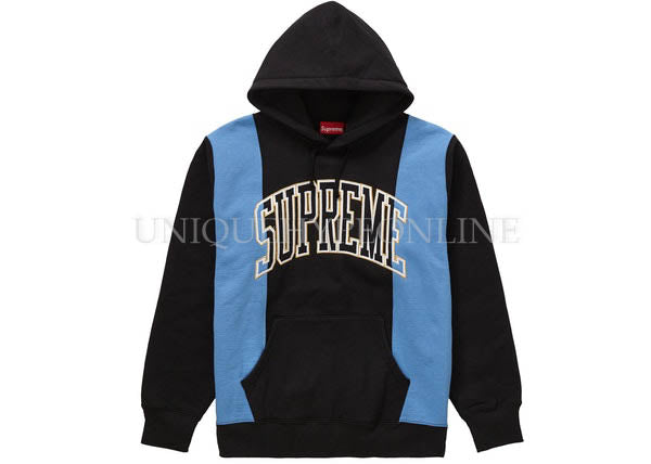Supreme Paneled Arc Hooded Sweatshirt Black FW19