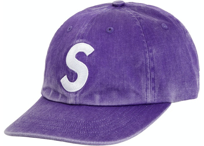 Supreme Pigment Print S Logo 6-Panel Purple