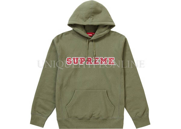 Supreme The Most Hooded Sweatshirt FW19 Light Olive