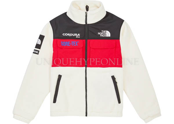 Supreme The North Face Expedition Fleece Jacket FW18 White