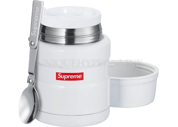 Supreme x Thermos Stainless King Food Jar and Spoon FW18