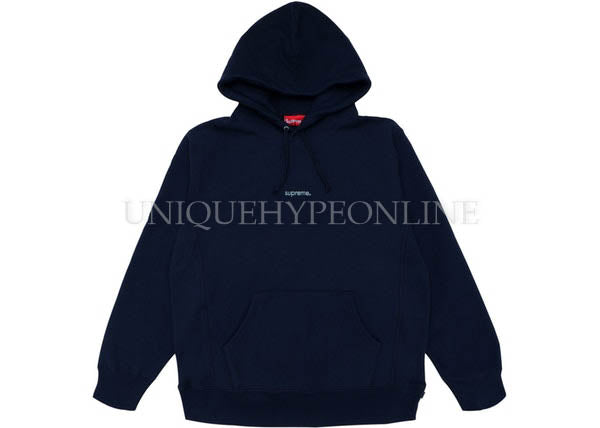 Supreme Trademark Hooded Sweatshirt Navy FW18