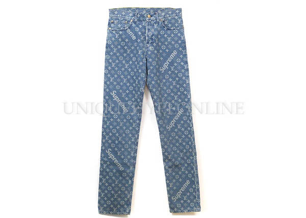 Supreme x Louis Vuitton Jacquard Denim 5-Pocket Jean FW17