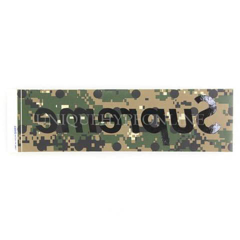 Supreme CDG Box Logo Sticker Green Camo