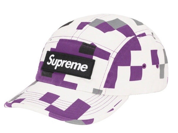 Supreme Military Camp Cap Purple Digi Camo FW20