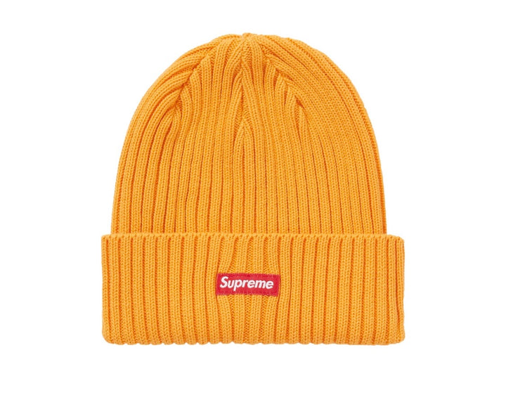 Supreme Overdyed Ribbed Beanie Tangerine SS20