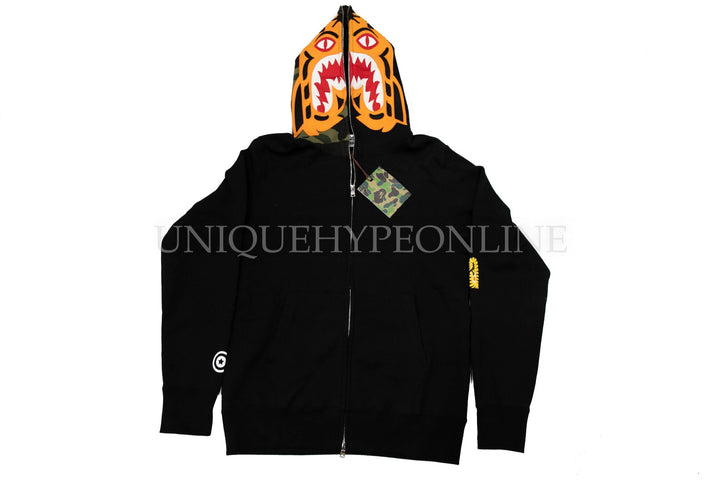 Bape Tiger Zip Up Hoodie Black