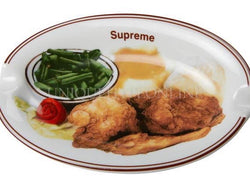 Supreme Chicken Dinner Plate Ashtray SS18