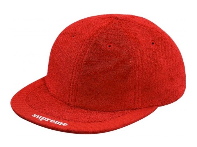 Supreme Terry Visor 6 Panel Red SS18