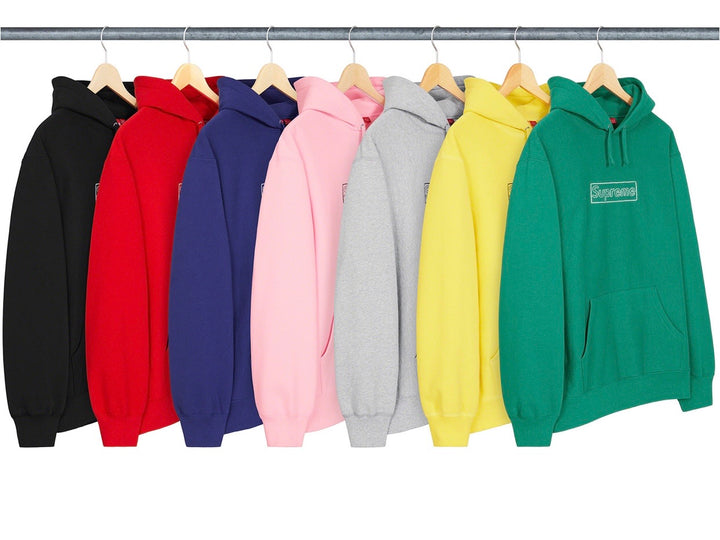 Supreme KAWS Chalk Box Logo Hooded Sweatshirt SS21
