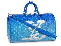 "Louis Vuitton Keepall Bandouliere ""Clouds"" Monogram 50 FW20"
