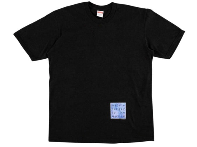 Supreme Middle Finger to the World T-shirt Black SS19