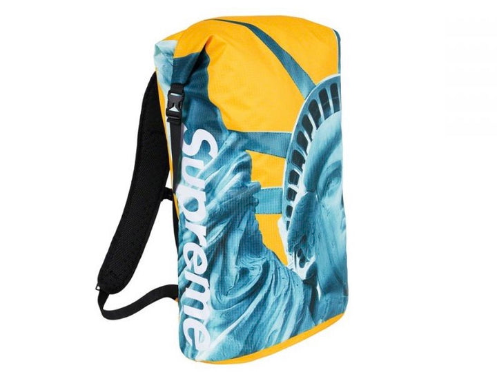 Supreme North Face Statue of Liberty Waterproof Backpack Yellow FW19