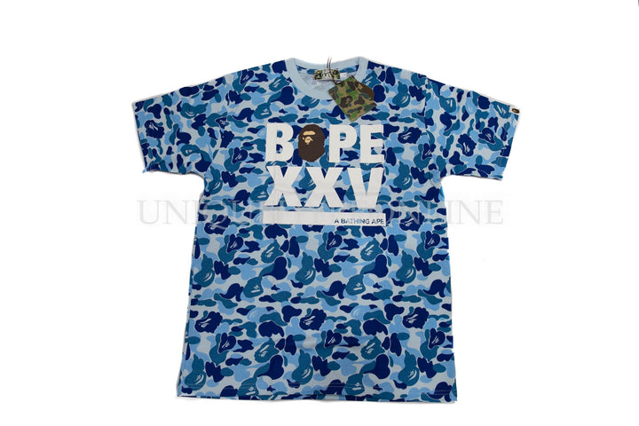 Bape 25th Anniversary T-shirt Blue Camo