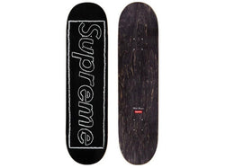 Supreme KAWS Chalk Logo Skateboard Deck Black SS21