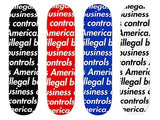 "Supreme ""Illegal Business Controls America"" Deck SS18"