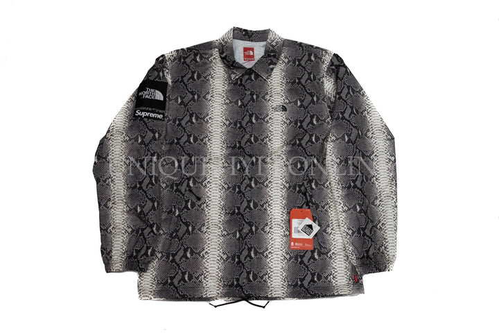 Supreme The North Face Snakeskin Taped Seam Coaches Jacket SS18 Black